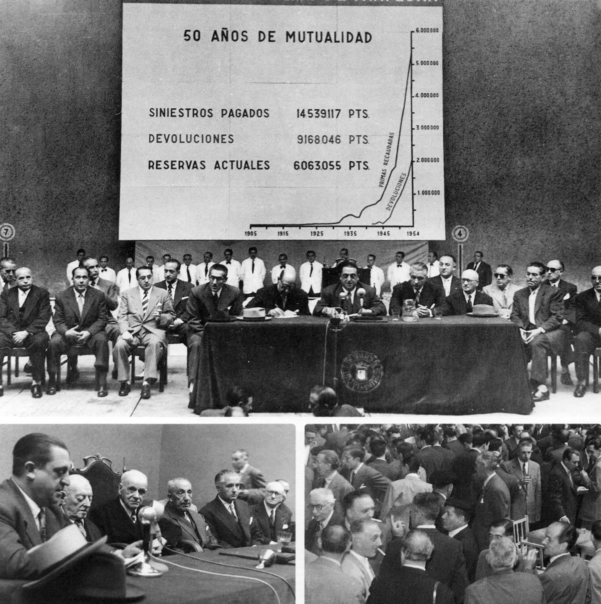 mutuavenir asamblea mutualistas bodas de oro 1955